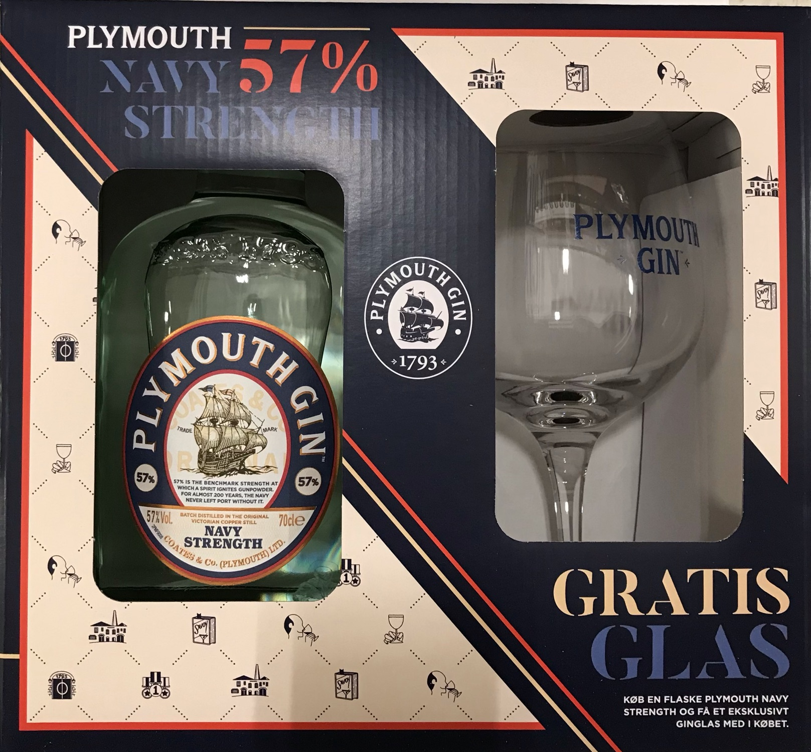 Playmouth Navy Strenth m/glas